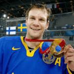 Niklas Lidström efter VM-Guld 1991 i Åbo